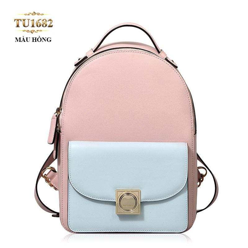 Balo da cao cấp túi vuông trước thời trang TU1682 (Màu hồng)