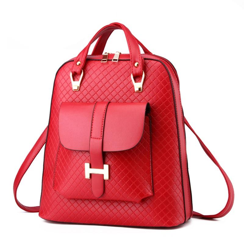 Balo nữ-Túi xách thời trang túi hộp trước phối khóa chữ H TU1501