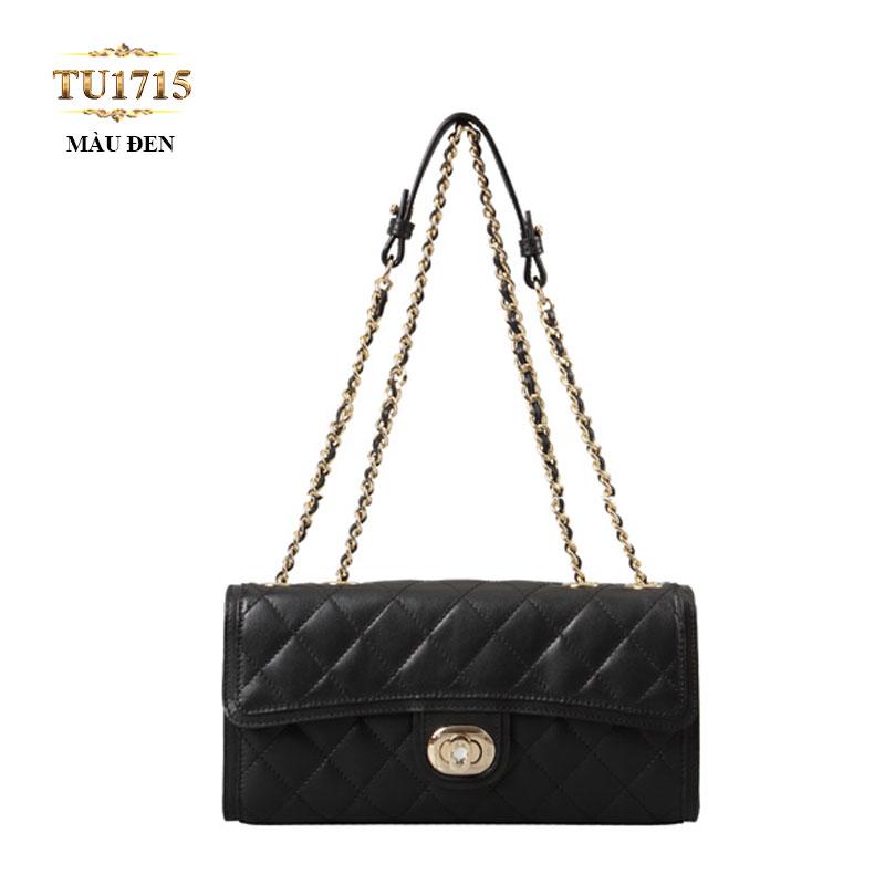Túi đeo 2 dây xích vân da quả trám thời trang TU1715