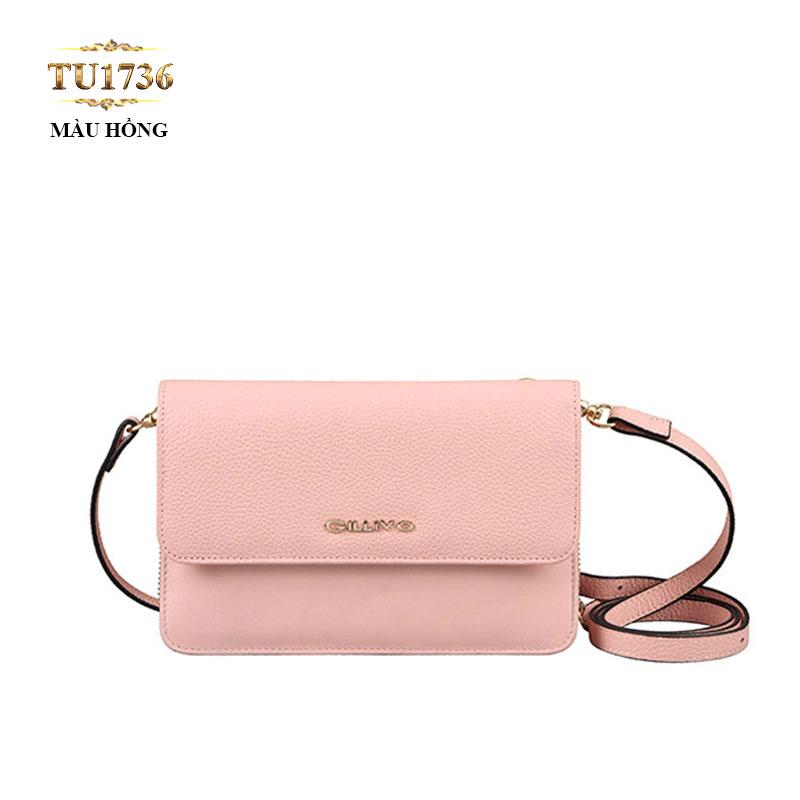 Túi đeo Gillivo mini màu hồng thời trang TU1736