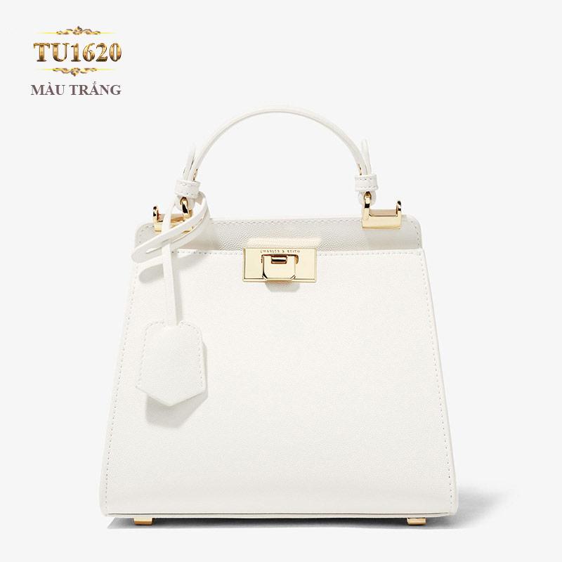 Túi xách CHARLES&KEITH cầm tay màu trắng cao cấp TU1620