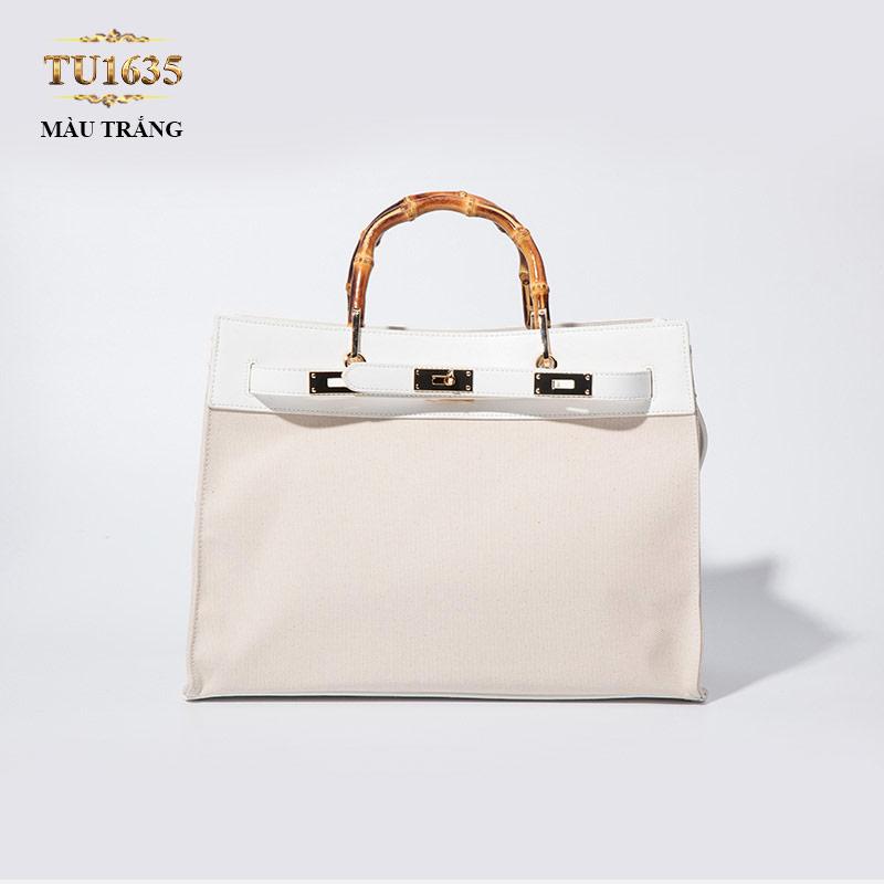 Túi xách đeo cao cấp dáng Hermes thời trang TU1635 (Màu trắng)