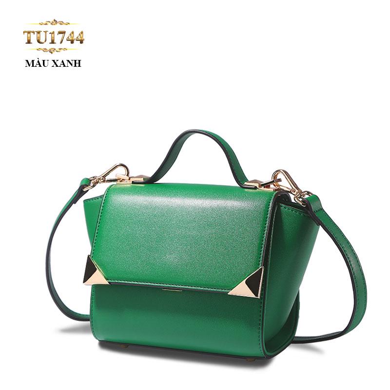 Túi xách đeo cao cấp màu xanh trơn thời trang TU1744