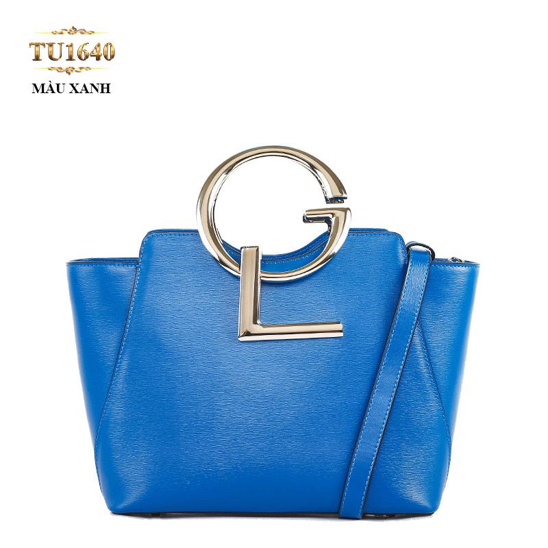 Túi xách đeo GL dáng hộp chữ nhật cao cấp TU1640 (Xanh than)