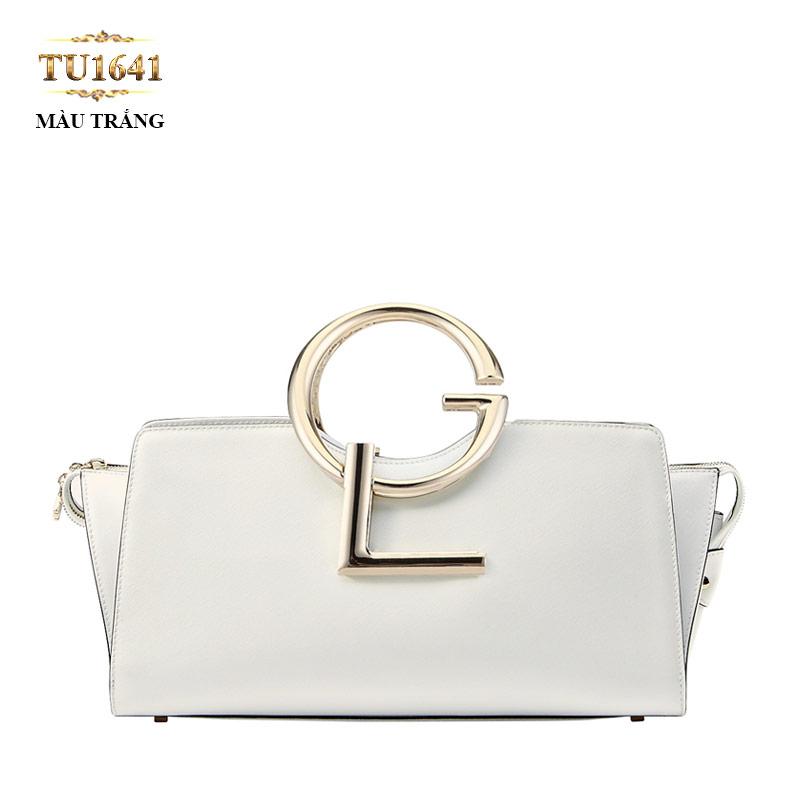 Túi xách đeo GL màu trắng dáng hộp chữ nhật cao cấp TU1641 (Size bé)