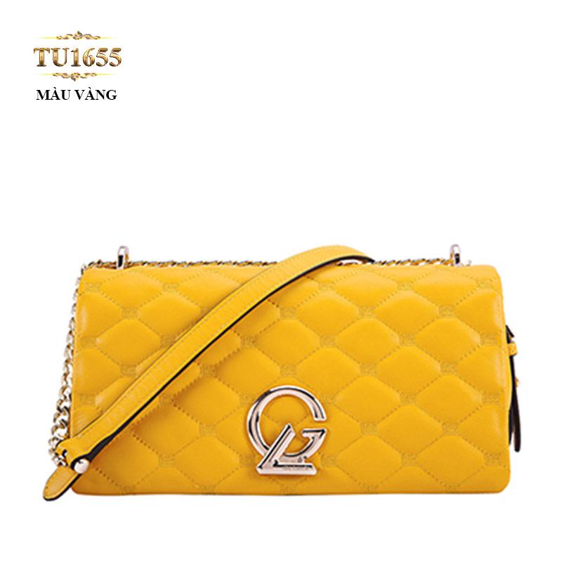 Túi xách đeo GL quả trám dây quai xích cao cấp TU1655 (Màu vàng)