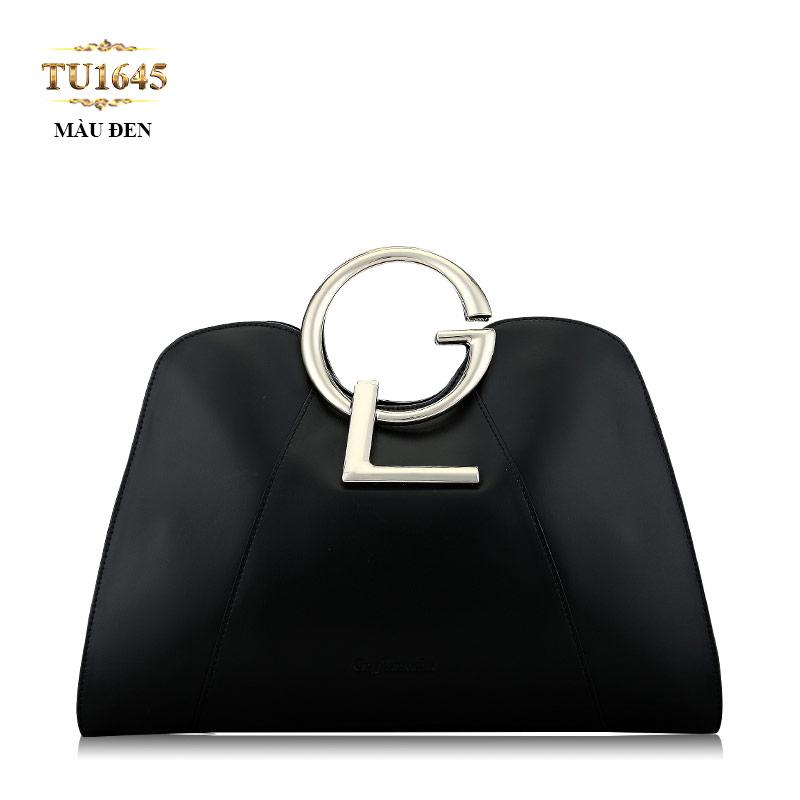 Túi xách GL cao cấp màu đen dáng hến thời trang TU1645 (Màu đen)