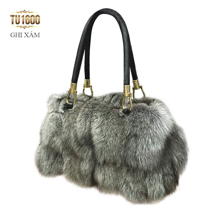 Túi xách lông thú nk cao cấp TU1600