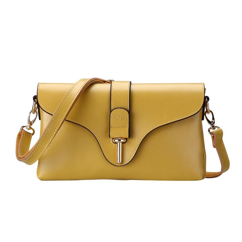 Túi xách nữ da thật thời trang màu vàng TU1506